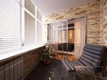 ремонт, отделка балкона в Абакане